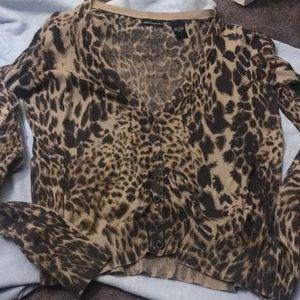 Animal print cardigan medium